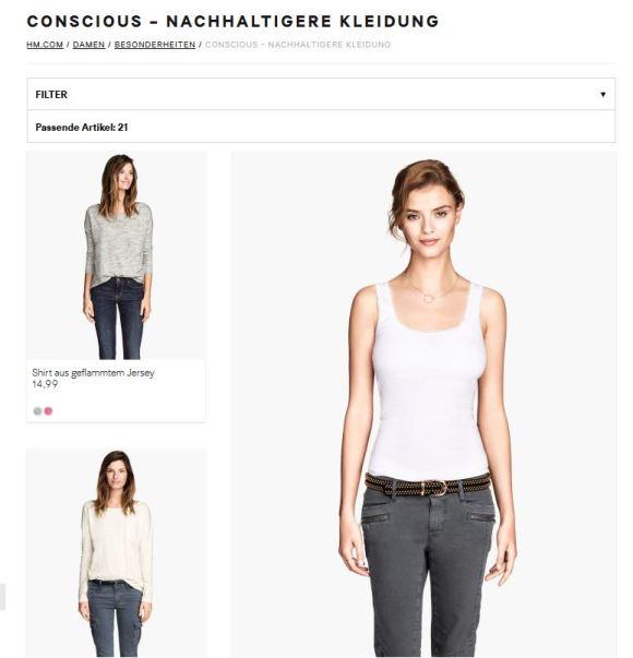 Screenshot von http://www.hm.com/at/subdepartment/LADIES?Nr=4294962120#Nr=2000228 aufgenommen am 15.1.15