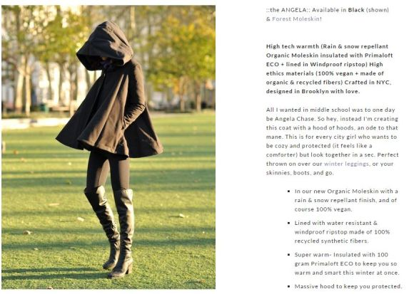 Screenshot (c) http://vautecouture.com/collections/womens-coats/products/the-angela-swing-coat-in-insulated-organic-moleskin-black